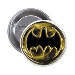 Batman Gold Logo 6 Cm Round Badge