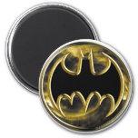 Batman Gold Logo 6 Cm Round Magnet