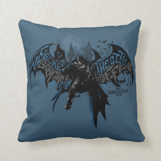 Batman Gotham City Paint Drip Graphic Cushion