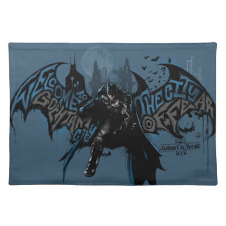 Batman Gotham City Paint Drip Graphic Placemat