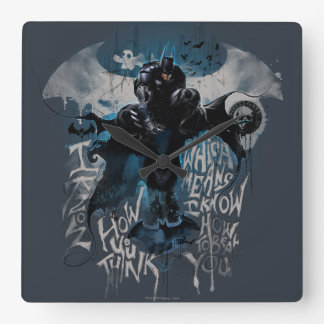 Batman Graffiti Graphic - I Know How You Think Clocks