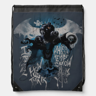 Batman Graffiti Graphic - I Know How You Think Drawstring Bag