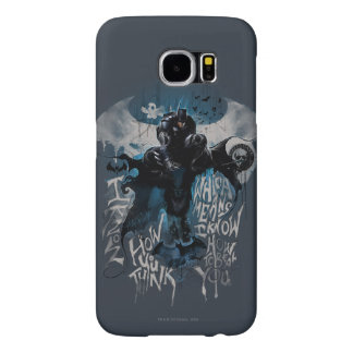 Batman Graffiti Graphic - I Know How You Think Samsung Galaxy S6 Cases