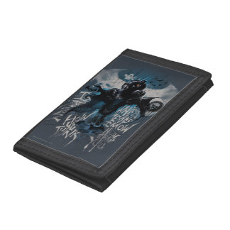 Batman Graffiti Graphic - I Know How You Think Tri-fold Wallets