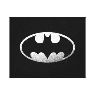 Batman Grainy Logo Stretched Canvas Prints