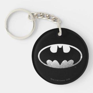 Batman Grainy Logo Double-Sided Round Acrylic Key Ring
