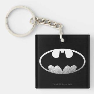 Batman Grainy Logo Double-Sided Square Acrylic Key Ring