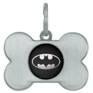Batman Grainy Logo Pet Name Tag