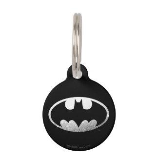Batman Grainy Logo Pet Tags