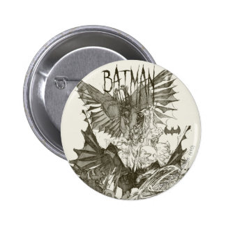 Batman Graphic Novel Pencil Sketch 6 Cm Round Badge