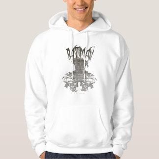 Batman | Graphic Novel Pencil Sketch Beige Logo Hooded Sweatshirt