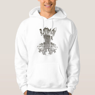 Batman | Graphic Novel Pencil Sketch Beige Logo Hoodie