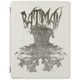 Batman | Graphic Novel Pencil Sketch Beige Logo iPad Cover