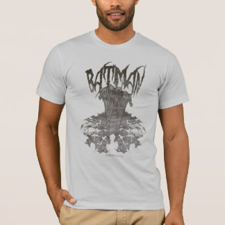 Batman   Graphic Novel Pencil Sketch Beige Logo T-Shirt