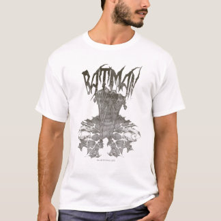 Batman | Graphic Novel Pencil Sketch Beige Logo T-Shirt
