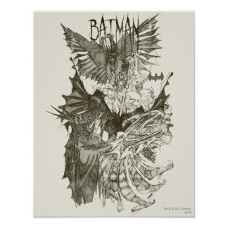 Batman Graphic Novel Pencil Sketch Poster