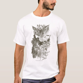 Batman Graphic Novel Pencil Sketch T-Shirt