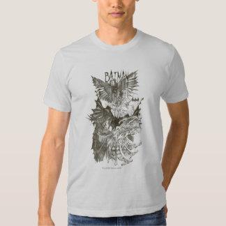 Batman Graphic Novel Pencil Sketch Tee Shirts