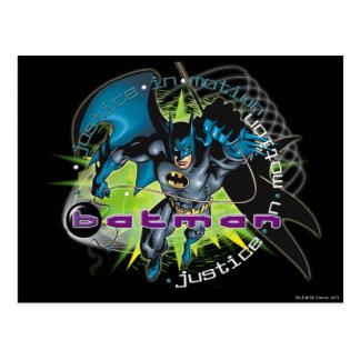 Batman Green Background Postcard