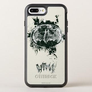 Batman Grunge Splatter Sketch OtterBox Symmetry iPhone 8 Plus/7 Plus Case