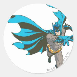 Batman Hand Out Round Sticker