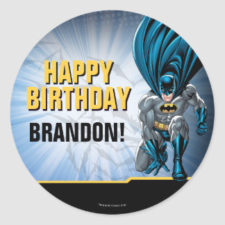 Batman | Happy Birthday Classic Round Sticker