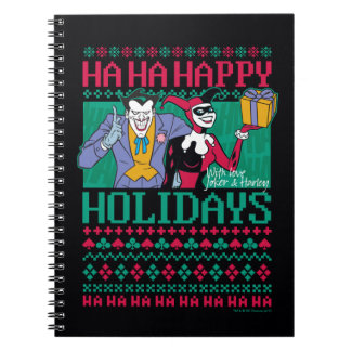 Batman | Happy Holidays Joker & Harley Quinn Notebook