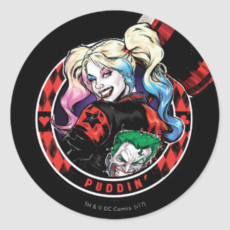Batman | Harley Quinn Winking With Mallet Classic Round Sticker