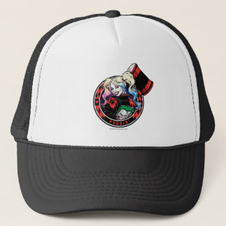 Batman | Harley Quinn Winking With Mallet Trucker Hat