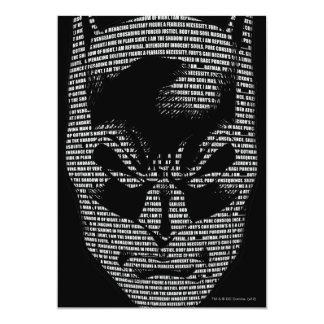 Batman Head Mantra 13 Cm X 18 Cm Invitation Card