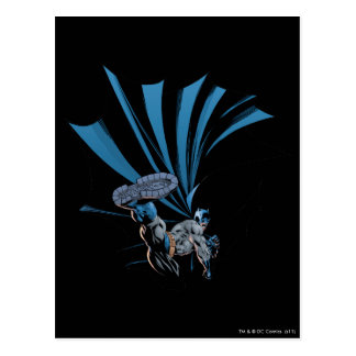 Batman high kick postcard