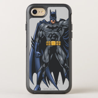 Batman holds up cape OtterBox symmetry iPhone 8/7 case
