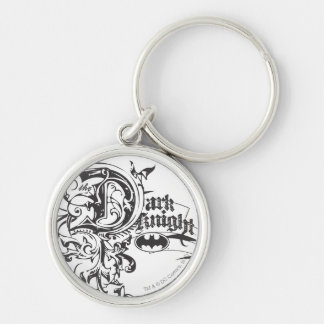 Batman Image 7 Silver-Colored Round Key Ring