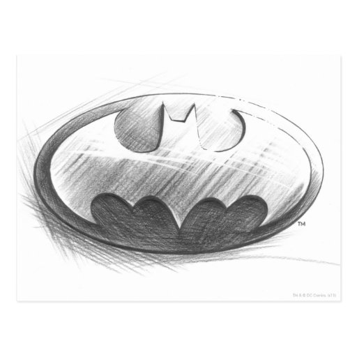 Batman Insignia Drawing Postcards