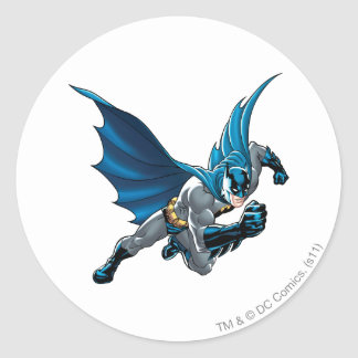 Batman into action classic round sticker