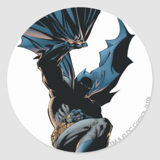 Batman Jumping Down Action Shot Classic Round Sticker