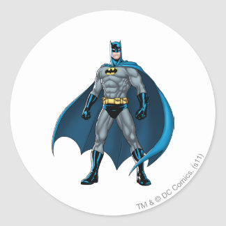 Batman Kicks Classic Round Sticker