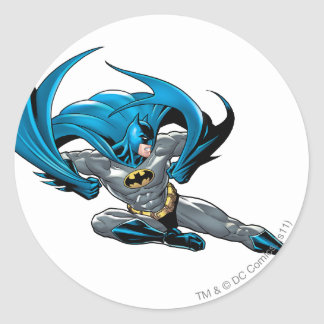 Batman kicks right round sticker
