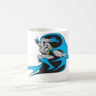 Batman Leaps Basic White Mug