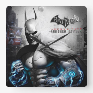 Batman - Lightning Square Wall Clock