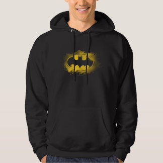 Batman Logo Black and Yellow Hooded Pullovers