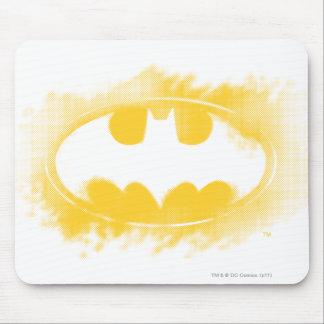 Batman Logo Black and Yellow Mouse Pad