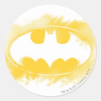 Batman Logo Black and Yellow Round Sticker