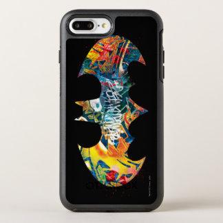 Batman Logo Neon/80s Graffiti 2 OtterBox Symmetry iPhone 8 Plus/7 Plus Case