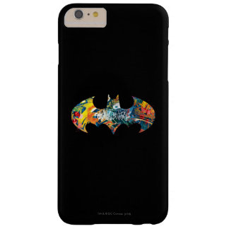 Batman Logo Neon/80s Graffiti Barely There iPhone 6 Plus Case