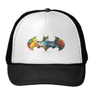 Batman Logo Neon/80s Graffiti Cap