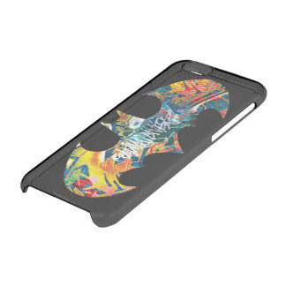 Batman Logo Neon/80s Graffiti Clear iPhone 6/6S Case