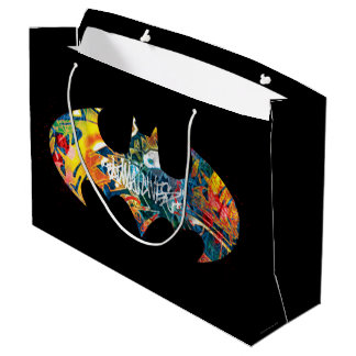 Batman Logo Neon/80s Graffiti Large Gift Bag