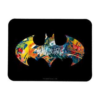 Batman Logo Neon/80s Graffiti Magnet
