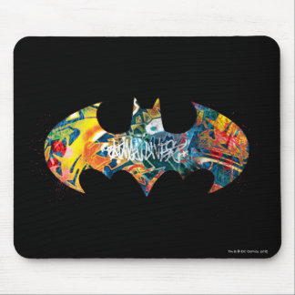 Batman Logo Neon/80s Graffiti Mouse Mat